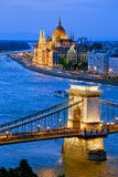 Afton i Budapest Royaltyfria Foton