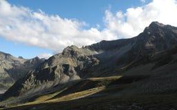 Afton i de Kaukasus bergen Royaltyfria Foton
