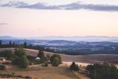 Afton i den Oregon bygden Royaltyfri Bild