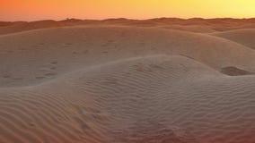 Afton i den Sahara öknen lager videofilmer