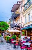 Afton i gamla Tbilisi Fotografering för Bildbyråer