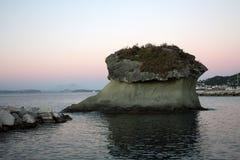 Afton i Ischia Arkivfoto