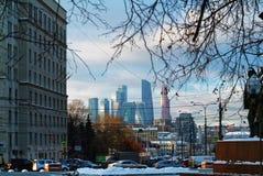 Afton i mitten av Moskva Royaltyfria Bilder