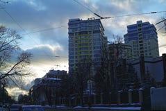 Afton i mitten av Moskva Royaltyfri Bild