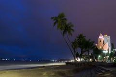 Afton i Nha Trang Arkivfoton