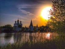 Afton i Teryaevo Royaltyfri Fotografi