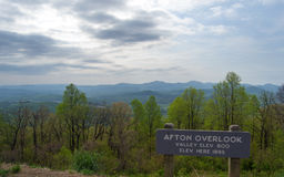 Afton Overlook on the Blue Ridge Parkway Royalty Free Stock Photo
