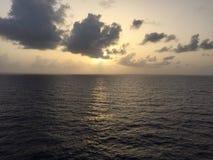Afton på Atlanticet Ocean Arkivbild