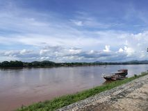 Afton på Chiang Kan, Thailand Royaltyfria Bilder