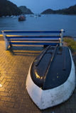 Afton på den Watermouth lilla viken Royaltyfri Foto
