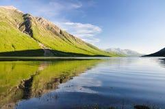 Afton på fjorden Etive - Skottland, UK fotografering för bildbyråer