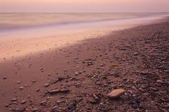 Afton på havet Arkivfoto