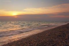 Afton på havet Royaltyfria Bilder