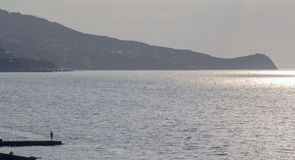 Afton på havet Royaltyfri Fotografi