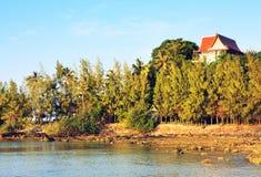Afton på havskust Fotografering för Bildbyråer