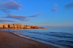 Afton på kusten av Spanien Royaltyfri Fotografi
