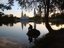 Afton på sjön Royaltyfri Bild