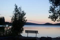 Afton på sjön Royaltyfri Fotografi