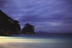 Afton på stranden Royaltyfri Foto