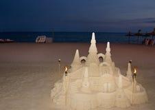 Afton på stranden i Majorca Royaltyfria Foton