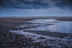Afton på Teluk Sisek Royaltyfria Bilder