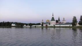 Afton på Valdai sjön lager videofilmer