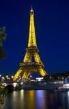 Afton Paris, Frankrike Arkivbild