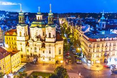 Afton Prague, Tjeckien Royaltyfri Bild