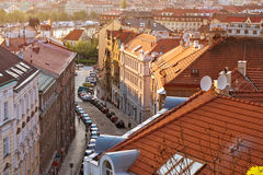Afton Prague (Tjeckien) Fotografering för Bildbyråer