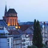 Afton Strasbourg Arkivbild