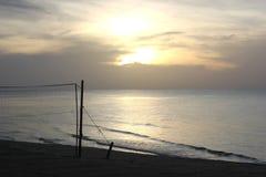 Afton vid havet Arkivfoto