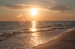 Afton vid havet royaltyfri fotografi