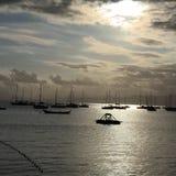 Afton vid havet Royaltyfri Foto