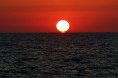 Afton vid havet Royaltyfri Bild