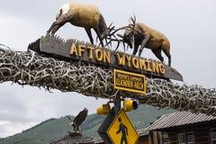 Afton, Wyoming, Elkhorn łuk Obraz Stock