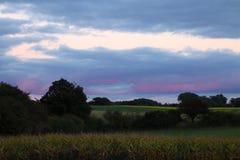 Aftonen färgar I Royaltyfri Foto