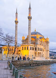 Aftonen i Istanbul royaltyfria foton