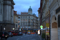 Aftongata Prague Arkivbilder