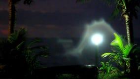 Aftonlynne i den Koh Samui sikten på himmel, lykta och arkivfilmer