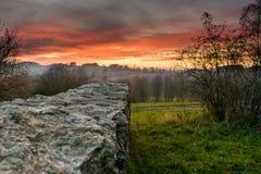 Aftonlynne i ruinsen-5 arkivfoton