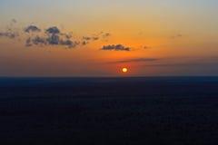 Aftonsavann i Kenya Arkivbild