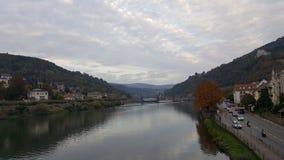 Aftonsikt av Heidelberg den gamla staden, Tyskland Arkivfoto