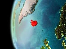 Aftonsikt av Island på jord Royaltyfria Bilder