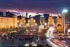 Aftonsikt av Kiev Royaltyfria Foton