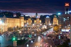 Aftonsikt av Kiev Royaltyfri Bild