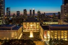 Aftonsikt av Lincoln Center royaltyfri bild