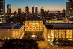 Aftonsikt av Lincoln Center Opera House Arkivfoto