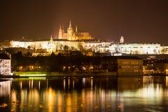 Aftonsikt av Prague. Tjeckien Royaltyfri Fotografi