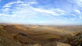 Aftontimelapsevideo från den Negev öknen. lager videofilmer