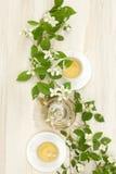 Aftreksel met jasmijn Stock Afbeelding